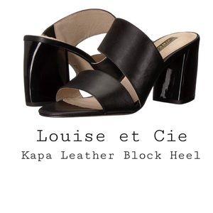 Louise et Cie- Kapa Leather Block Heel